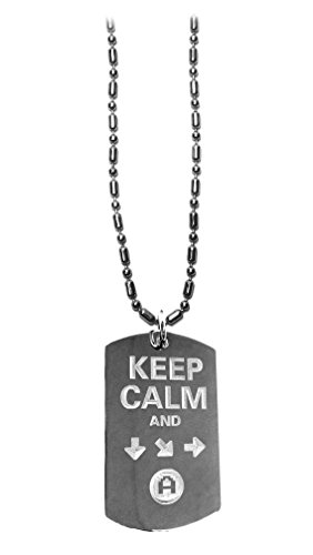 Hat Shark Keep Calm & Do A Special Move - Military Dog Tag, Luggage Tag Metal Chain Necklace