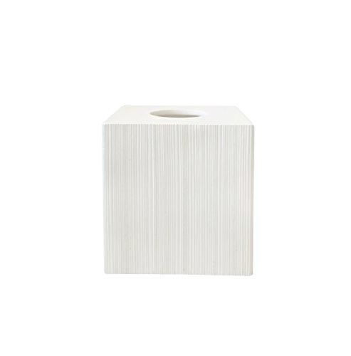 Tissue Box Cover Tissue Box Holder Bathroom Decor Accessories White Faux Bois Square