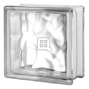 Quality Glass Block 8 x 8 x 4 Nubio 90 Minute Glass Block by Quality Glass Block