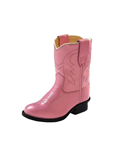 Old West Kids Boots Girls' Western Boot (Toddler), Pink, 6.5 M ()