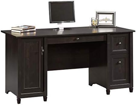 "Sauder 408558 Edge Water Computer Desk, Estate Black L: 59.06"" x W: 23.23"" x H: 29.02"","