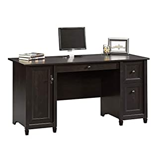 "Sauder 408558 Edge Water Computer Desk, Estate Black L: 59.06"" x W: 23.23"" x H: 29.02"","