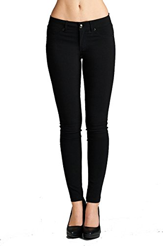 YourStyle Stretch Skinny Basic Pants (Small, (Rayon Nylon)