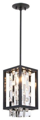 Graphite Finish Pendants - DVI Lighting DVP6321GR-CRY Pendant with Clear Crystals Shades, Graphite Finish