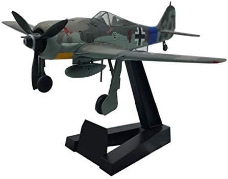 1/72スケール戦闘機プラモデル、軍事FW190 A-8 JGファイターアダルトグッズやギフト、5.4Inch X4.9Inch