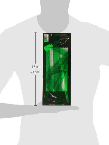 31q4sZHduZL Haz clic aquí para comprobar si este producto es compatible con tu modelo Compuesto por una escuadra, un cartabón, una regla y un semicírculo Juego de dibujo