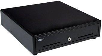 Star Micronics 37964141 Cash Drawer, 12'' x 14'', Printer Driven, Media Slot, DK Ready, Black
