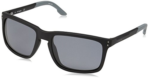 Columbia Men's Holston Ridge Polarized Rectangular Sunglasses, Matte Black, 58 - Sunglasses Columbia