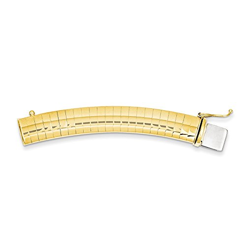 Lex & Lu 14k Yellow Gold 4mm Omega extender for Necklace-Prime