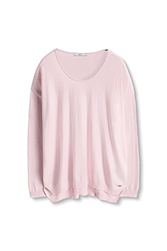 edc by Esprit 086cc1i024, Suéter para Mujer Rosa (Light Pink 690)