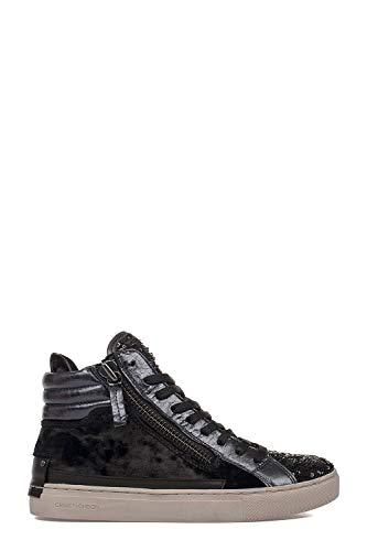 ecb128b820a72 Crime London Women s 25325A17b20 Blue Leather Hi Top Sneakers