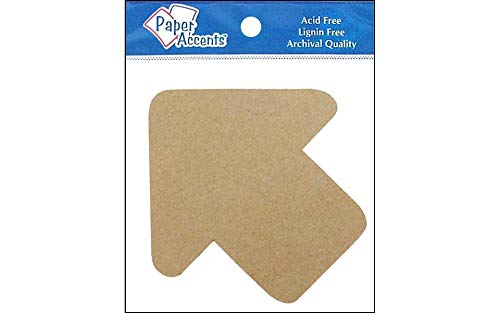 AD Paper Chipboard Shapes 8pc Arrow Natural ()