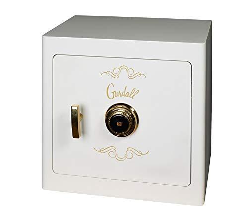 Gardall JS1718 Jewelry Drawer Safe, White, Gold Trim, Combo Lock