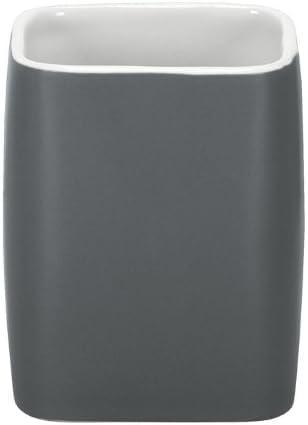 Pietra 7.4 x 9.1 x 7.4 cm Kleine Wolke Cubic Porta spazzolino Ecru