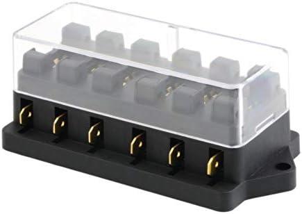Universal 12 V 6 Vías Caja de Fusibles Bloque Caja de ...