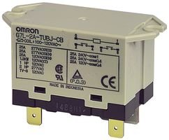 OMRON INDUSTRIAL AUTOMATION G7L-1A-TUB-J-CB-AC200/240 POWER RELAY SPST-NO 240VAC, 30A, BRACKET