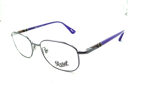 Persol Rx Eyeglasses Frames 2432 V 1057 51x18 Gunmetal with Blue Made in - Rx Persol