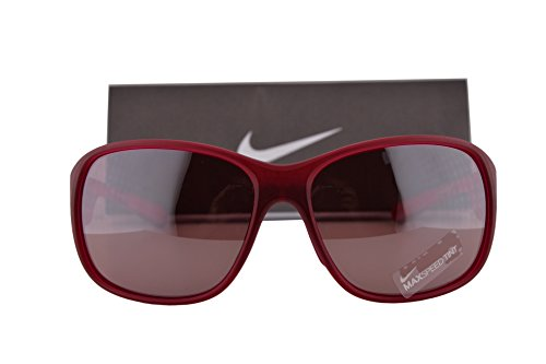 Nike EV0816 Exhale E Sunglasses Bright Magenta Red w/Grey Red Max Speed Tint Lens 538 EV - Running Nike Womens Sunglasses