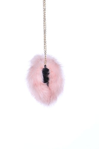 Chain Comfortable Pink Size Fur Lovely FSB19616 Womens Faux Soft Super Clutch aFXxCqp
