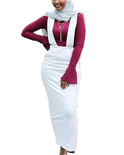 De Élégante Femme color Longueur Pour White Soirée Inch Jinsh 19 waist Jupe Size S 25 Black Et Moulante Crayon Pleine EvICxgxwq