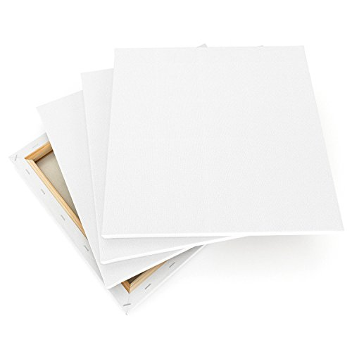 """upc 851309007081 product image for Arteza 12x12"""" Stretched White Blank Square Canvas, Bulk Pack of 8, Primed, 100% Cotton for Painting, Acrylic Pouring, Oil Paint & Wet Art Media, Canvases for Professional Artists, Hobby Pain..."""