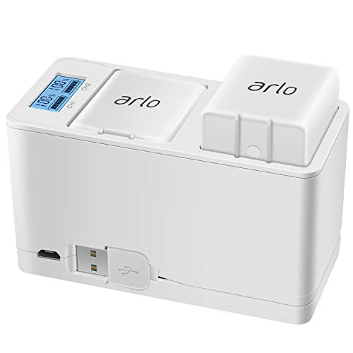 Arlo Battery Charger Station, Dual Rechargeable Batteries Charging Station for Arlo Pro/Pro 2/Go Camera