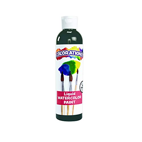 Colorations Liquid Watercolor Paint For Kids Black Arts and Crafts Material (8 oz) (Packaging may vary) ()