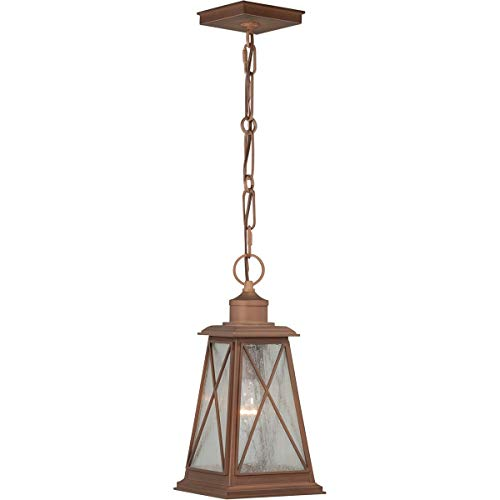 Outdoor Pendant 1 Light Fixtures with Antique Red Copper Finish Steel Material Medium 7