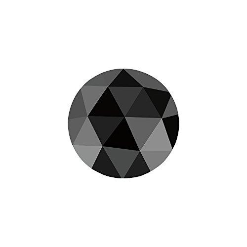1/3 (0.30-0.35) Cts of 4.10-4.50 mm AA Round Rose Cut Black Diamond (1 pc) Loose Diamond