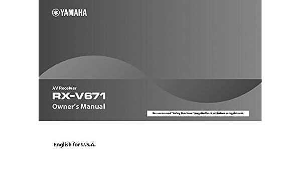 Rx-v671 pdf yamaha manual