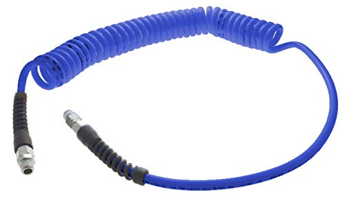 140 psi Working Pressure 25 Total Length Navy Blue 13//32 Hose ID 25/' Total Length 0.406 0.406 NPT Swivel Fittings Advanced Technology Products TT-1332-25-NB-SS Technithane Spiral Tubing 13//32 Hose ID
