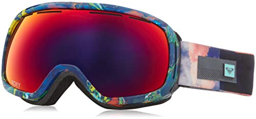 Roxy Rockferry Snow Goggles, Neon Grapefruit/Cloud Nine, One Size (Roxy Goggles)