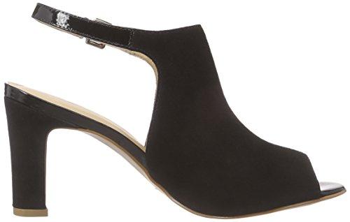 Primafila 42-23707 Damen Knöchelriemchen Sandalen mit Blockabsatz Schwarz (Black)