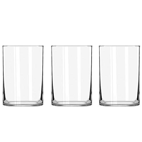STARSIDE 3 Pack Clear Glass Cylinder Vases, Table Flowers Vase,for Wedding Decrations and Formal Dinners (6 Inch) -