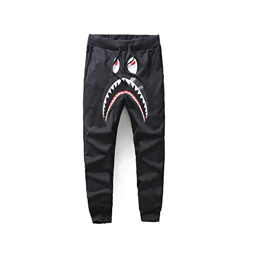 fd50f671760 Unisex Sports Casual bape Sweatpants Men Trousers ape ape Athletics  Sweatpants Shark Head Jaw Shorts Rap