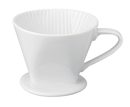 HIC Filter Cone, Porcelain, Number 2-Size Filter, Brews 2 to 6-Cups by HIC Harold Import Co.