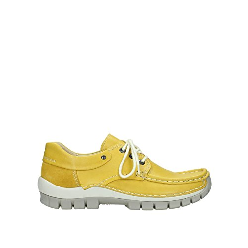 Lace Wolky up Leather shoes Fly 4701 Yellow 70900 AP8Pw