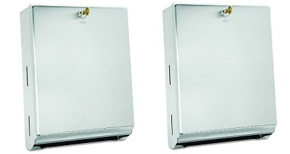 Bobrick 262 Surface-Mounted Paper Towel Dispenser, 10 3/4 x 4 x 14, Satin Stainless Steel (2-(Pack))