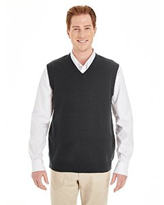 V-neck Sweater Vest Performance (Harriton Mens Pilbloc V-Neck Sweater Vest (M415) -BLACK -6XL)