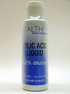 Health Products Distributors - Folic Acid Liquid 100 mcg 4 oz