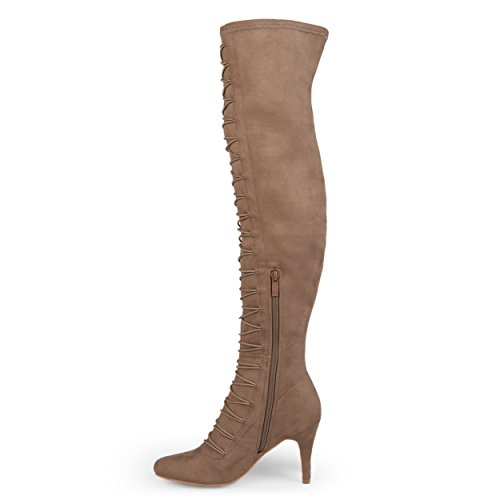 Brinley Almond Regular and The Toe Wide Co Womens Knee Taupe Vintage Boots Calf Over rE6wqUrx0