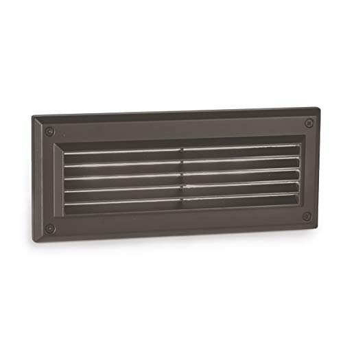 - WAC Lighting WL-5205-30-aBZ Endurance Louvered LED Brick Light in Architectural Bronze Finish 3000K (Renewed)
