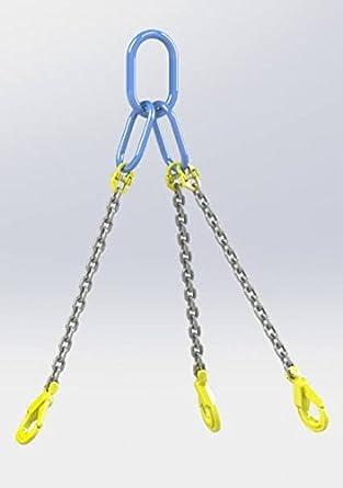 Hackett AMZ1023125 - Cadena con ganchos de seguridad, 7mm Chain Dia, 1 William Hackett