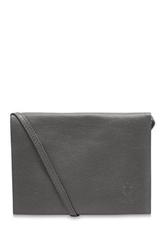 100 Soft Grey Di Flap Italian Montte Ladies Shoulder Bag Leather Dark Jinne Envelope qwgtTBE
