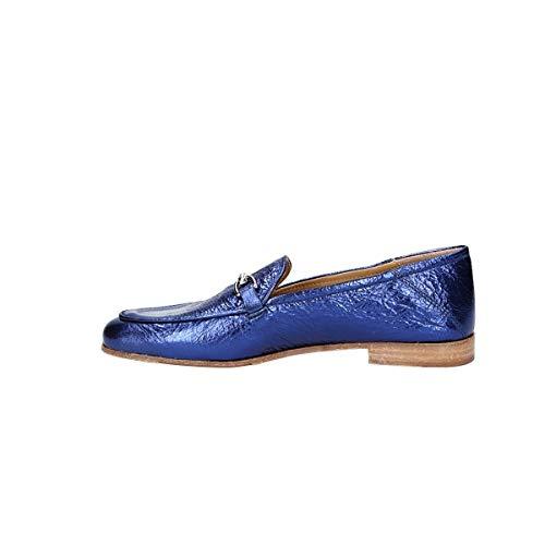 Donna Lemaré Pelle Blu 1319blue Mocassini Rqx6S