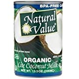 Natural Value Organic Coconut Milk Lite 12x 13.5Oz