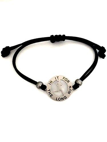 Motivational Mantra Women's Adjustable Bracelet – Inspiration Jewelry Bracelet for Women and Girls – Sporty Runner Girl Design – Stainless Steel Charm – Original Gift Idea – Bonus Gift Bag