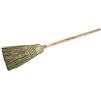 "Carlisle 4135067 Commercial Corn Broom with Solid Wood Handle, 12"" Wide"