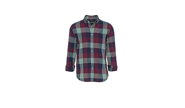 ALTONADOCK Camisa Cuadros Granate Y Verde para Hombre: Amazon ...