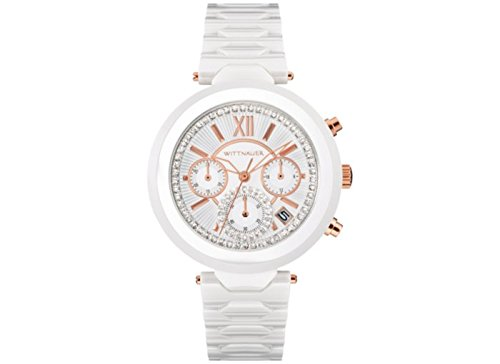 Wittnauer WN4030 Womens Chronograph Taylor White Ceramic Bracelet Watch (Watch Ceramic Womens Wittnauer)